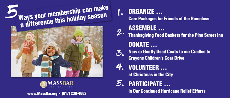 Give back with the MBA this holiday season