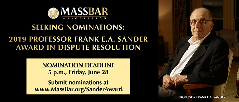 Sander Award Nominations Due June 28
