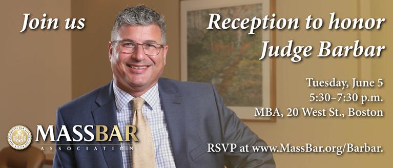 Reception to honor Judge Barbar