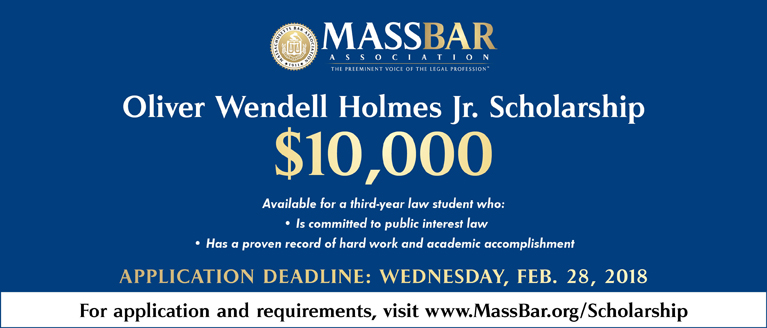 Apply for the Oliver Wendell Holmes Jr. Scholarship